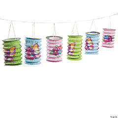 1st Birthday Butterfly Lantern Garland