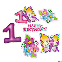 1st Birthday Butterfly Cutouts