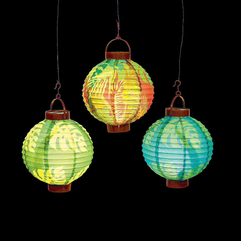 Oriental Lantern Lights Luau Leaf Light-up Lanterns