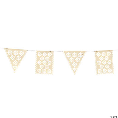 Vintage Collection Lace Cut Pennant Banner
