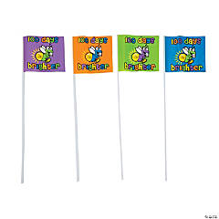100th Day of School Brighter Lightning Bug Flags