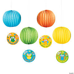 """100 Days Smarter"" Owl Paper Lanterns"