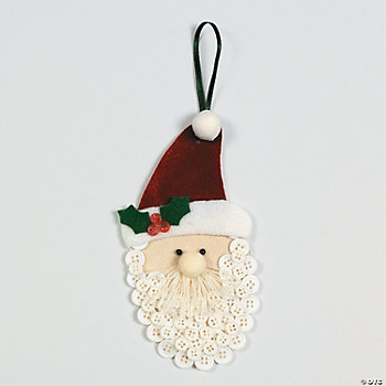 Button Beard Santa Ornaments Craft Kit
