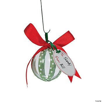 Ornament Ball Candy Filler Craft Kit