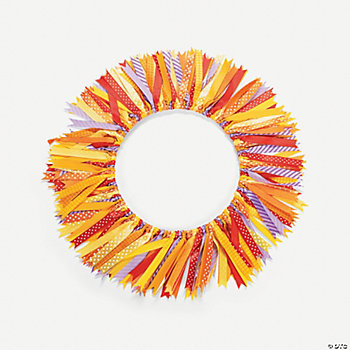 Fall Ribbon Wreath Craft Kit