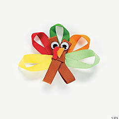 Ribbon Turkey Pin Craft Kit