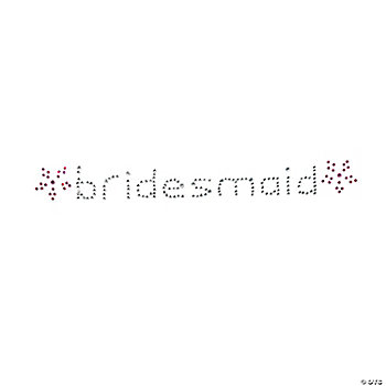 """Bridesmaid"" Rhinestone Iron-On"