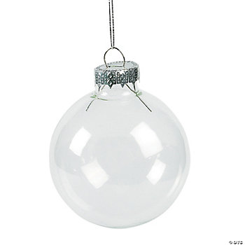 DIY Clear Round Ornaments