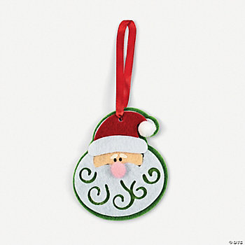 Santa Swirl Beard Ornament Craft Kit