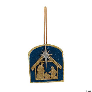 Glitter Nativity Silhouette Ornament Craft Kit