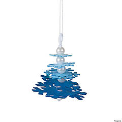 Blue Snowflake Layered Christmas Ornament Craft Kit