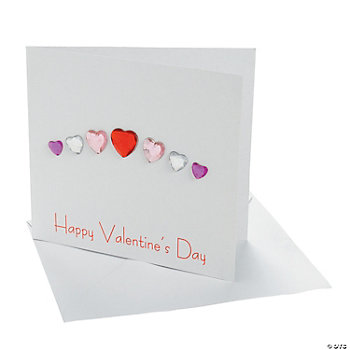 Jewel Hearts Valentine Card Craft Kit