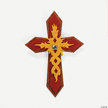Adult religious cross felt pins craft kit oriental for Christian crafts for adults
