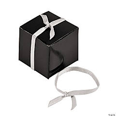 Pre-Tied Silver Ribbons With Elastic