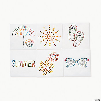 "Rhinestone ""Summer"" Iron-On Transfers"