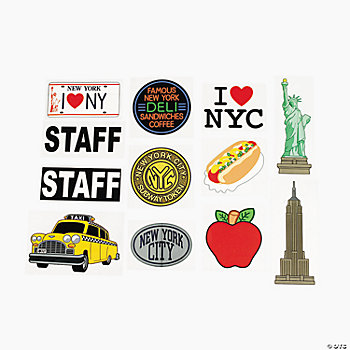 "New York ""Staff"" Iron-On Transfers"