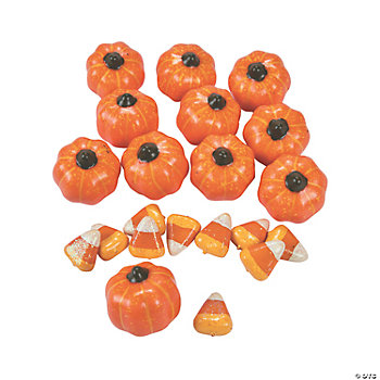 Pumpkins & Candy Corn Vase Fillers