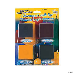 Candle Wax Dye Pack - Blue, Red, Yellow, Green