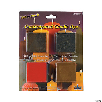 Candle Wax Dye Pack - Brown, Sage, Orange, Gold