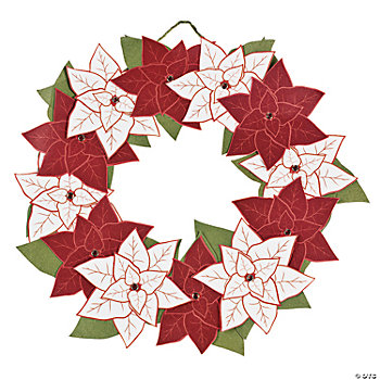 Poinsettia Wreath Craft Kit