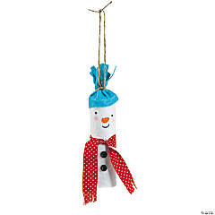 Rolled Snowman Ornament Craft Kit
