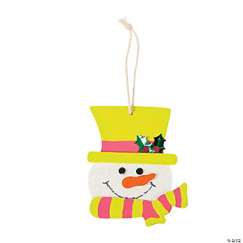 Color Your Own Snowman Ornament