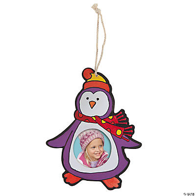 Color Your Own Penguin Picture Frame Ornament