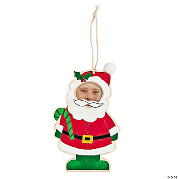 Color Your Own Santa Photo Frame Ornament
