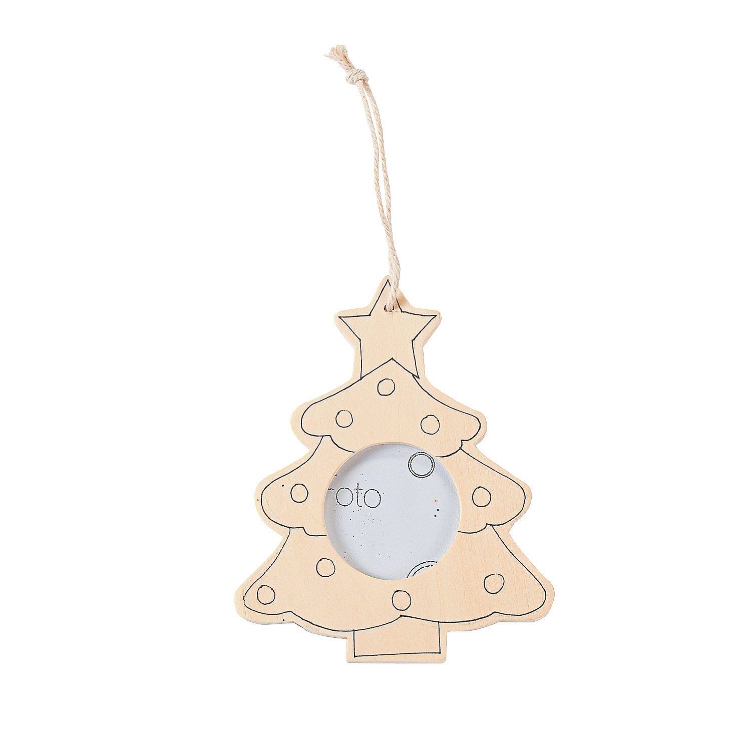 Christmas Tree Ornaments Picture Frames : Color your own christmas tree picture frame ornament