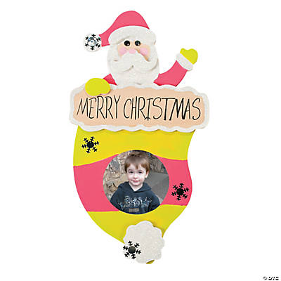 Color Your Own Santa Hat Picture Frame Ornament