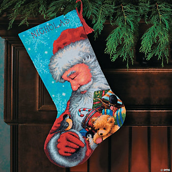 Santa & Toys Cross Stitch Stocking Craft Kit