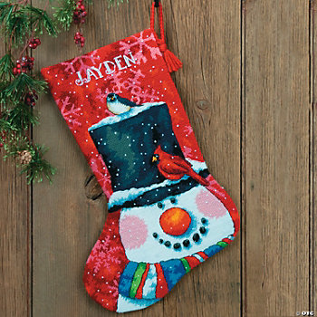 Snowman & Friends Cross Stitch Stocking Craft Kit