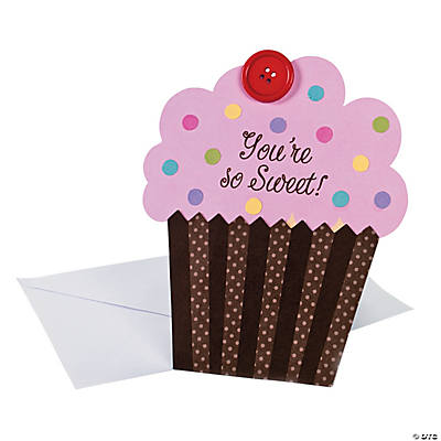 """You're So Sweet"" Cupcake Valentine Card Craft Kit"
