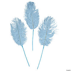 Light Blue Ostrich Feathers