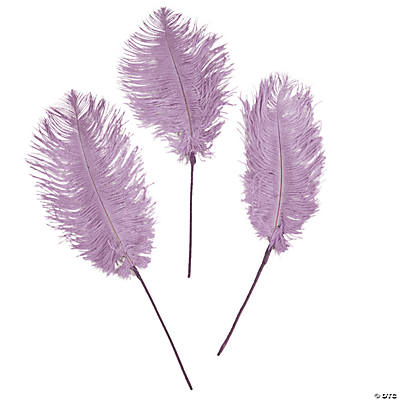 Lavender Ostrich Feathers
