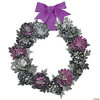 Halloween Flower Wreath Craft Kit