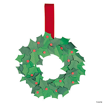 Holly Christmas Wreath Craft Kit