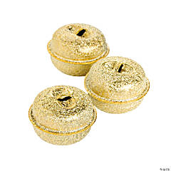 Small Frosted Goldtone Jingle Bells