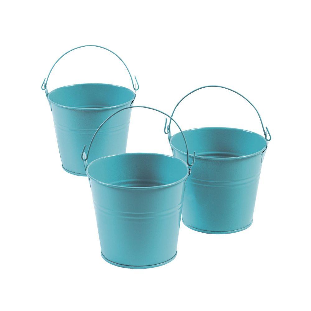 Blue Tinplate Pails - Easter & Easter Baskets & Grass