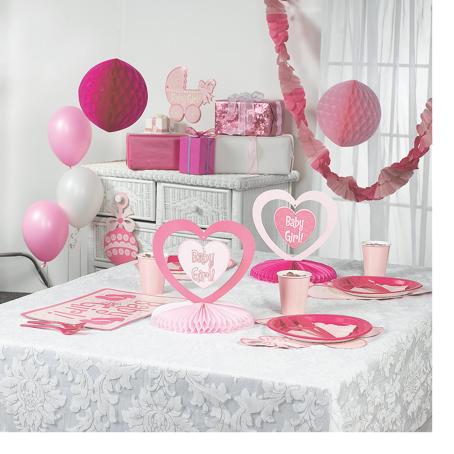 baby girl shower decorating kit in 42 1132 baby girl shower decorating