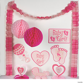 baby girl shower decorating kit oriental trading discontinued