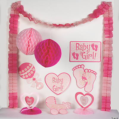 Baby Girl Shower Decorating Kit