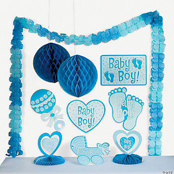 baby boy shower decorating kit oriental trading discontinued