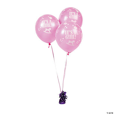 """It's A Girl!"" Latex Balloons"