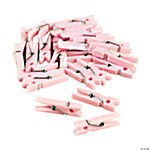 Pastel Pink Mini Clothespin Party Favors