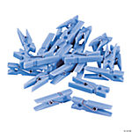 Pastel Blue Mini Clothespin Party Favors