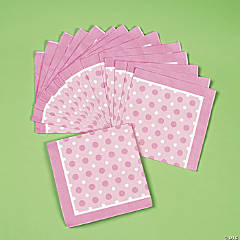 Pink Polka Dot Luncheon Napkins