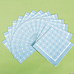 Blue Polka Dot Luncheon Napkins