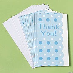 Blue Polka Dot Thank You Cards