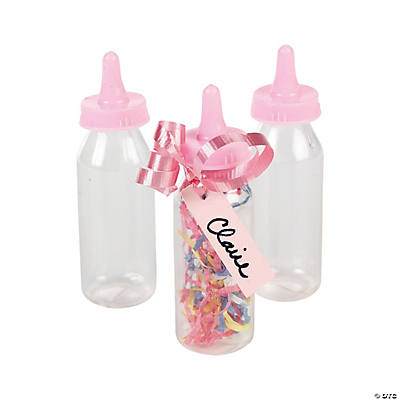 Pastel Pink Mini Baby Bottle Containers